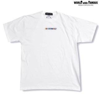 【SALE】WORLDwideFAMOUS ワールド 半袖Tシャツ ホワイト(Tシャツ/カットソー(半袖/袖なし))
