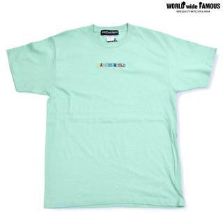 【SALE】WORLDwideFAMOUS ワールド 半袖Tシャツ ミント(Tシャツ/カットソー(半袖/袖なし))