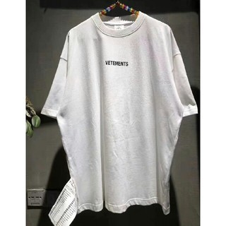 VETEMENTS ロゴ オーバーサイズ Tシャツ ブラック