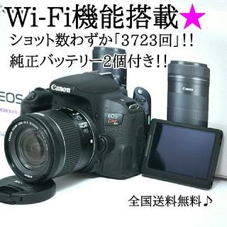 Canon - ★Wi-Fi機能搭載★純正バッテリー2個付き♫キヤノン kiss x9i
