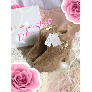 リズリサ(LIZ LISA)の新品タグ付き箱付き♡リズリサ♡ビジューファーブーティー♡MIIA系(ブーティ)
