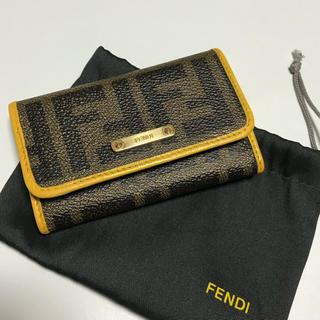 フェンディ(FENDI)のFENDI ズッカ柄キーケース フェンディ  鑑定済み 正規品 (キーケース)