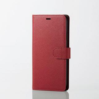 エレコム(ELECOM)のiPhoneXR 手帳型ケース レッド サフィアーノ調 ソフトレザー スマホ(iPhoneケース)