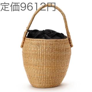 コムサデモード(COMME CA DU MODE)の新品 コムサイズム 天然草木 かごバッグ リネン 麻 ONIGIRI(かごバッグ/ストローバッグ)