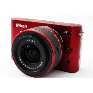 Nikon - ★レアなワインレッド!WiFiカード付き★ニコン J2 レンズキット