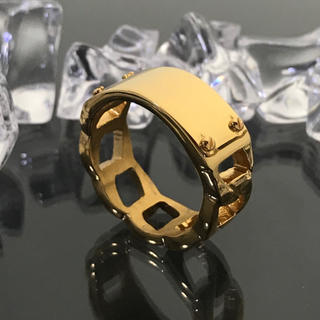 《R113/22.5号》サージカルステンレス316Lゴールドリング (リング(指輪))