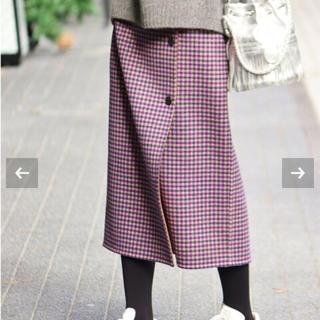 IENA - IENA 《追加》Wフェイスリバーシブルミッドカーフスカート 38