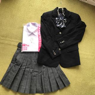 女子 高校 制服一式 ブレザー  チェックスカート リボン