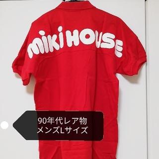ミキハウス(mikihouse)の【激レア★90s 】ミキハウス ポロシャツ レッドLサイズ(ポロシャツ)