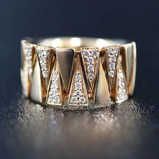 K18 ダイヤモンド デザイン リング 0.2ct (リング(指輪))