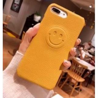 【新品】iPhone7/8ケース 立体ニコちゃんマーク 薄型スリム