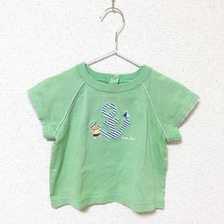 familiar - ファミリア ☆ 80 Tシャツ 男の子 グリーン 半袖 ☆