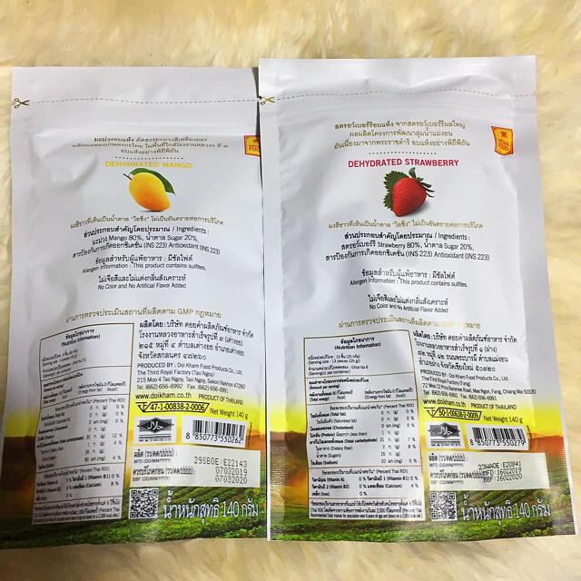 ロイヤルプロジェクト マンゴー いちご 140g 2袋 大容量 食品/飲料/酒の食品(フルーツ)の商品写真