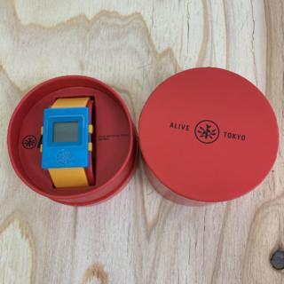 アライブアスレティックス(Alive Athletics)の◆新品未使用◆ALIVE腕時計 SIMPLE turquoise/orange(腕時計(デジタル))