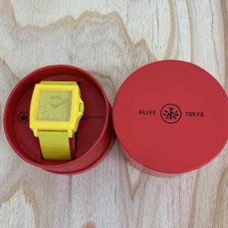 アライブアスレティックス(Alive Athletics)の◆新品未使用◆ALIVE腕時計 EASY yellow(腕時計(アナログ))