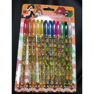 チップアンドデール(チップ&デール)のチップ&デール グリッターペン 12色(ペン/マーカー)