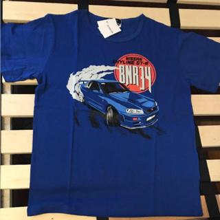 日産 - ニッサン スカイライン GT-R R34 メンズ  Tシャツ 青