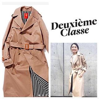 ドゥーズィエムクラス(DEUXIEME CLASSE)の希少‼️ 極美品◆Deuxieme Classeギャバトレンチコート◆サイズ32(トレンチコート)