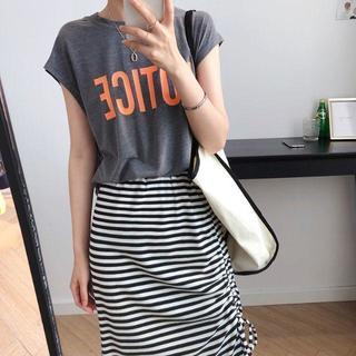スカートTシャツ2点セット レディース夏ファション横目 上品新作df8952(ロングスカート)