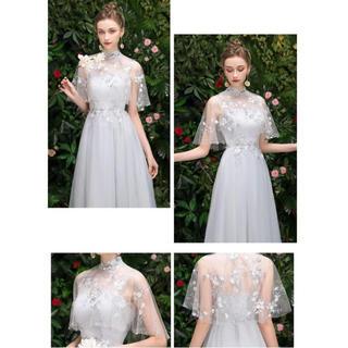 花柄刺繍ドレス(ロングドレス)
