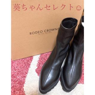 ロデオクラウンズワイドボウル(RODEO CROWNS WIDE BOWL)のRCWB★ストレッチショートブーツ★葵ちゃん私物はこれ💕(ブーツ)