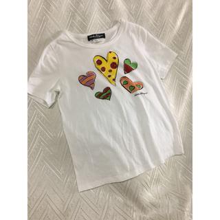 サルヴァトーレフェラガモ(Salvatore Ferragamo)の可愛いMADE IN Italy サルヴァトーレフェラガモラインストーンTシャツ(Tシャツ(半袖/袖なし))