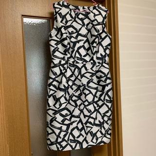 グレースコンチネンタル(GRACE CONTINENTAL)のグレースコンチネンタル ダイアグラム★ノースリーブワンピース ドレス 38(ひざ丈ワンピース)
