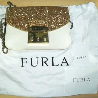 Furla - FURLA フルラ メトロポリス ゴールド カスタマイズ ショルダーバッグ