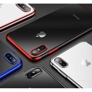 iPhone678X.Xs.XR.XsMaxサイドカラーTPUクリアケース