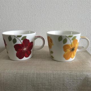 花柄コーヒーカップ 2個セット