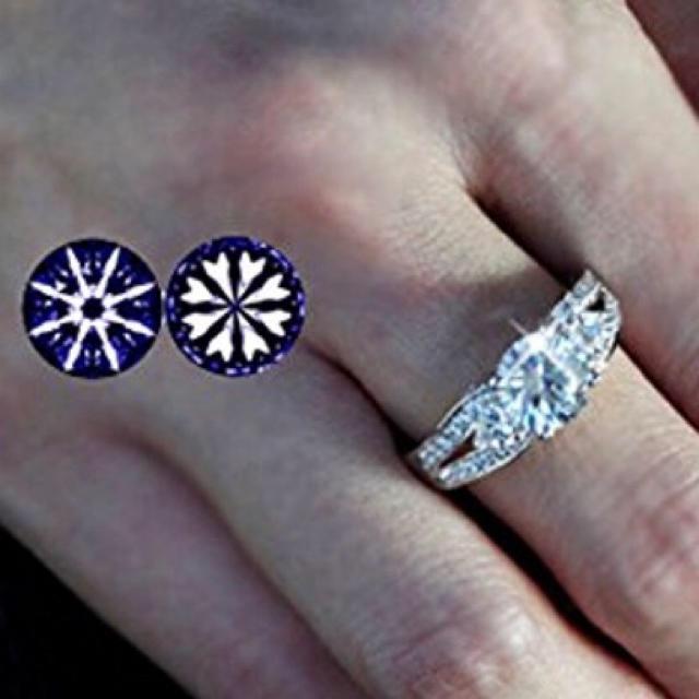 SWAROVSKI(スワロフスキー)の大粒 3ct ハート&キューピッド エクセレントカット リング 指輪 K18GP レディースのアクセサリー(リング(指輪))の商品写真