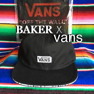 ベイカー(BAKER)のVANSバンズX BAKERベーカーUS限定スーパーコラボBOXアイコンキャップ(スケートボード)