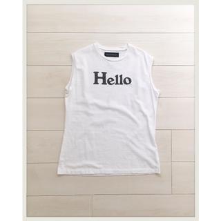 マディソンブルー(MADISONBLUE)のMADISONBLUE マディソンブルー HELLO ノースリーブ Tシャツ(Tシャツ(半袖/袖なし))