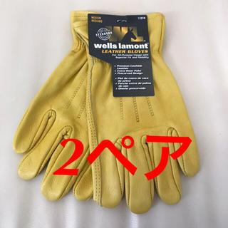 コストコ - 【送料無料】 ウェルズ ラモント レザーワークグローブ 2ペア 革手袋♪