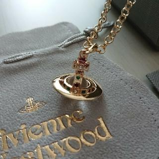 Vivienne Westwood - 極美品  ヴィヴィアン・ウエストウッド ゴールドオーブネックレス 巾着付き