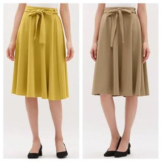 ジーユー(GU)の2着セット ジーユー GU ウエストリボン ポンチ フレアスカート(ひざ丈スカート)