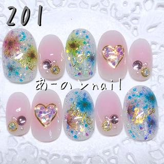 送料&カラー変更1色無料«201»ジェルネイルチップ♡*.(つけ爪/ネイルチップ)