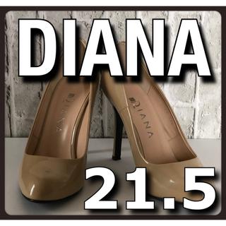 DIANA - 美品 DIANA ダイアナ ハイヒール パンプス エナメル ベージュ 21.5