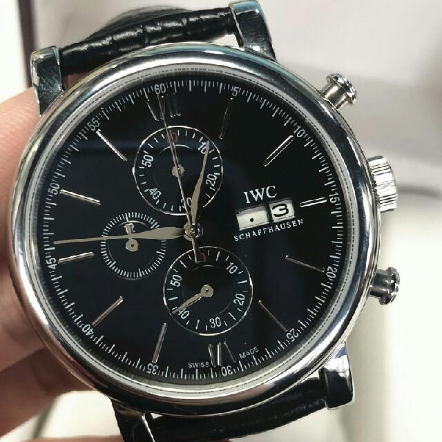 ミュウミュウ バッグ マドラス - IWC - IWC IW391002 42mm 黒文字盤 クロノグラフ  革ベルト 腕時計 の通販 by halfhea's shop|インターナショナルウォッチカンパニーならラクマ