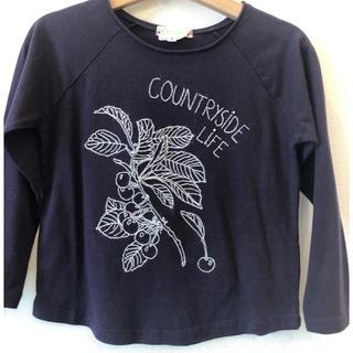 ボンポワン(Bonpoint)のムラサキ色 ロングTシャツ  4a 新品未使用(Tシャツ/カットソー)
