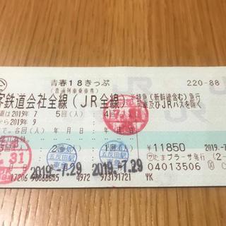 ジェイアール(JR)の青春18きっぷ(1回分)(鉄道乗車券)