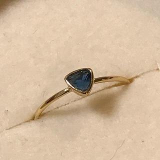 リング 指輪 カイヤナイト ゴールド 18号 エテ アガット 好きさん♡(リング(指輪))