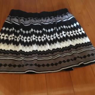 スカート 白黒 モノクロ(ミニスカート)