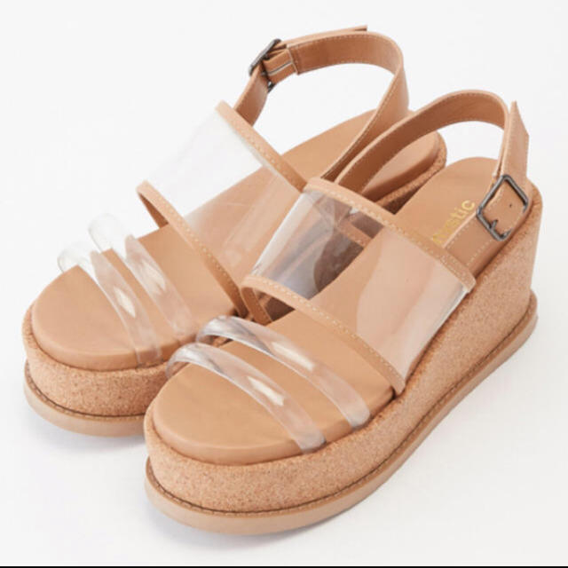 mystic(ミスティック)のmystic コルクストラップサンダル/クリア レディースの靴/シューズ(サンダル)の商品写真