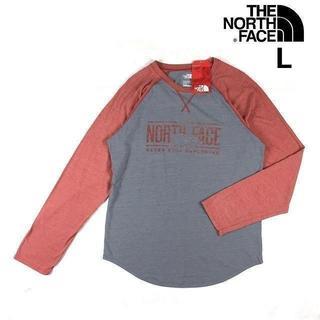 ザノースフェイス(THE NORTH FACE)のノースフェイス 長袖Tシャツ ラグラン(L)灰赤 180902(その他)