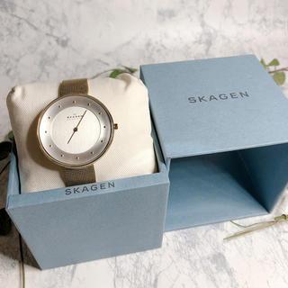 スカーゲン(SKAGEN)のスカーゲン SKAGEN  腕時計 シェル ゴールド(腕時計)