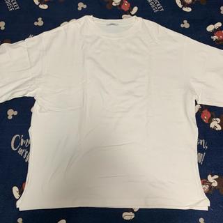 ジーナシス(JEANASIS)のJEANASIS ジーナシス スリット プルオーバー オーバーサイズ Tシャツ(Tシャツ(半袖/袖なし))