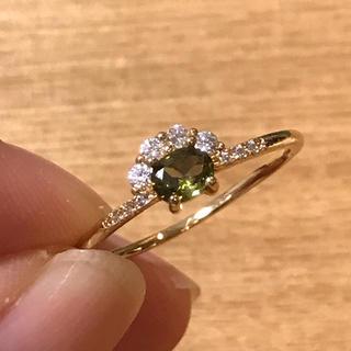 リング 指輪 CZ ダイヤ ペリドット 19号 エテ アガット 好きさん♡(リング(指輪))
