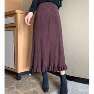 ザラ(ZARA)のニットスカート(ロングスカート)