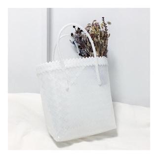 mina perhonen - ハウスオブロータス  プラカゴバッグ 白 ホワイト